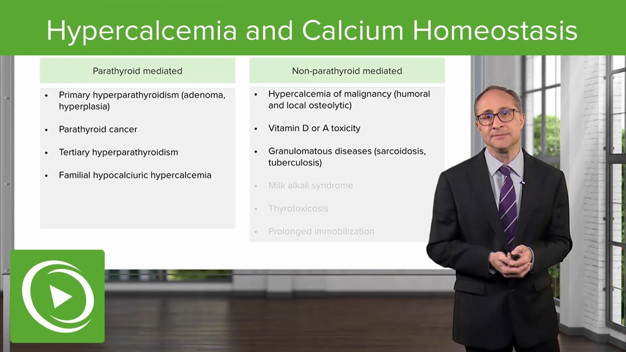 Hypercalcemia and Calcium Homeostasis – Endocrinology | Lecturio