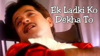 ek ladki ko dekha to karaoke with lyrics