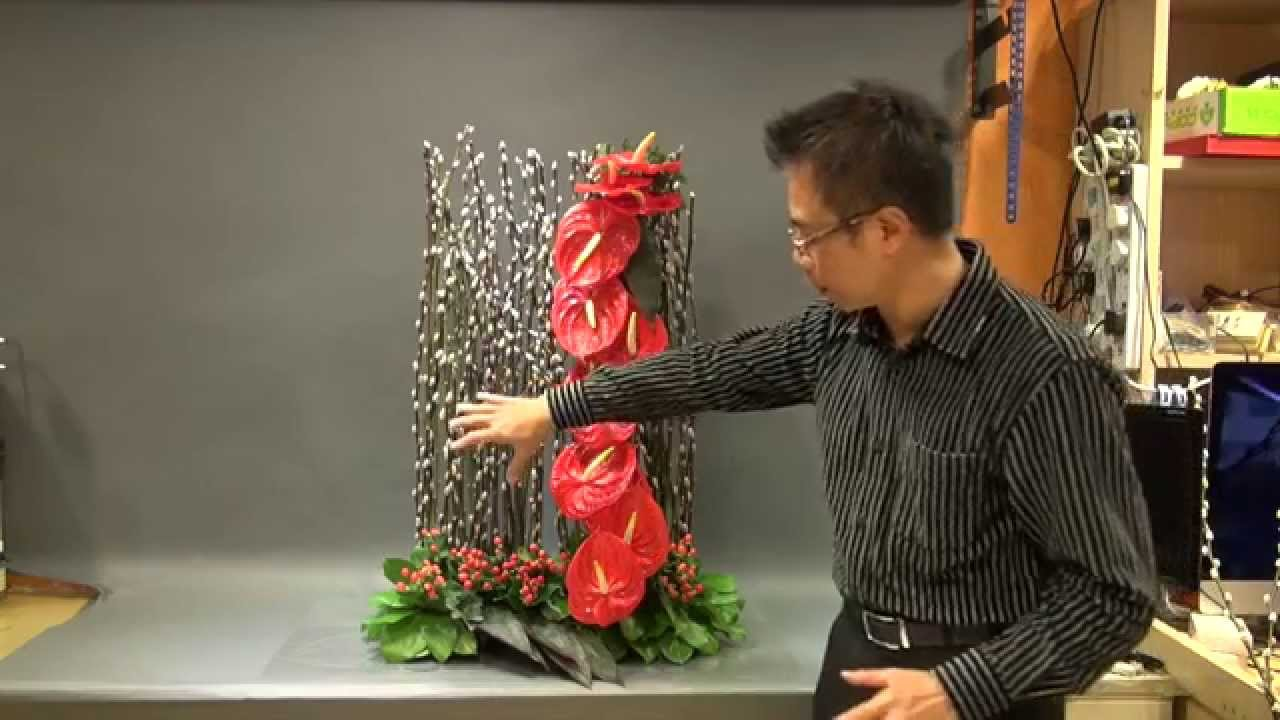 B121 大型賀年花藝創作 Creative Floral Design For Chinese New Year