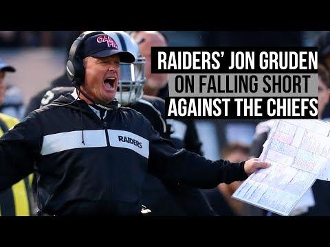 Raiders' Jon Gruden on loss to Chiefs and Patrick Mahomes performance