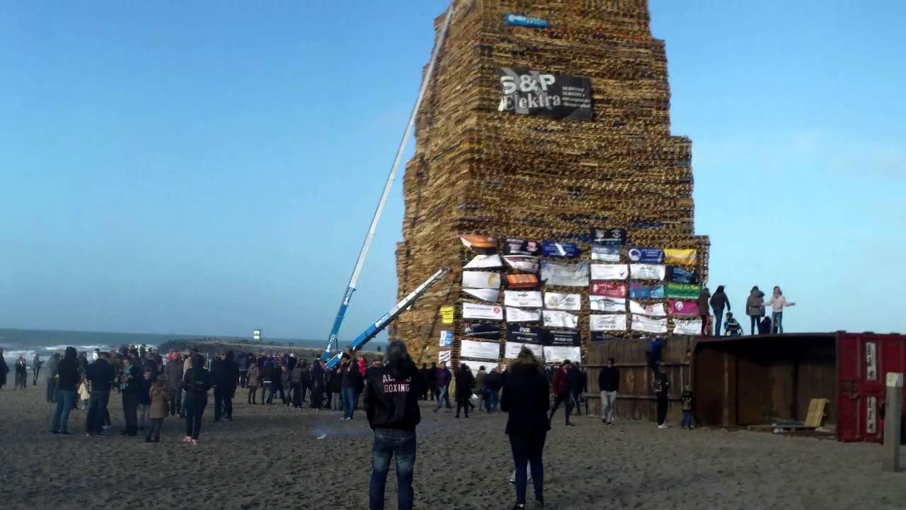 Vuurstapel Vreugdevuur Duindorp Scheveningen World Record