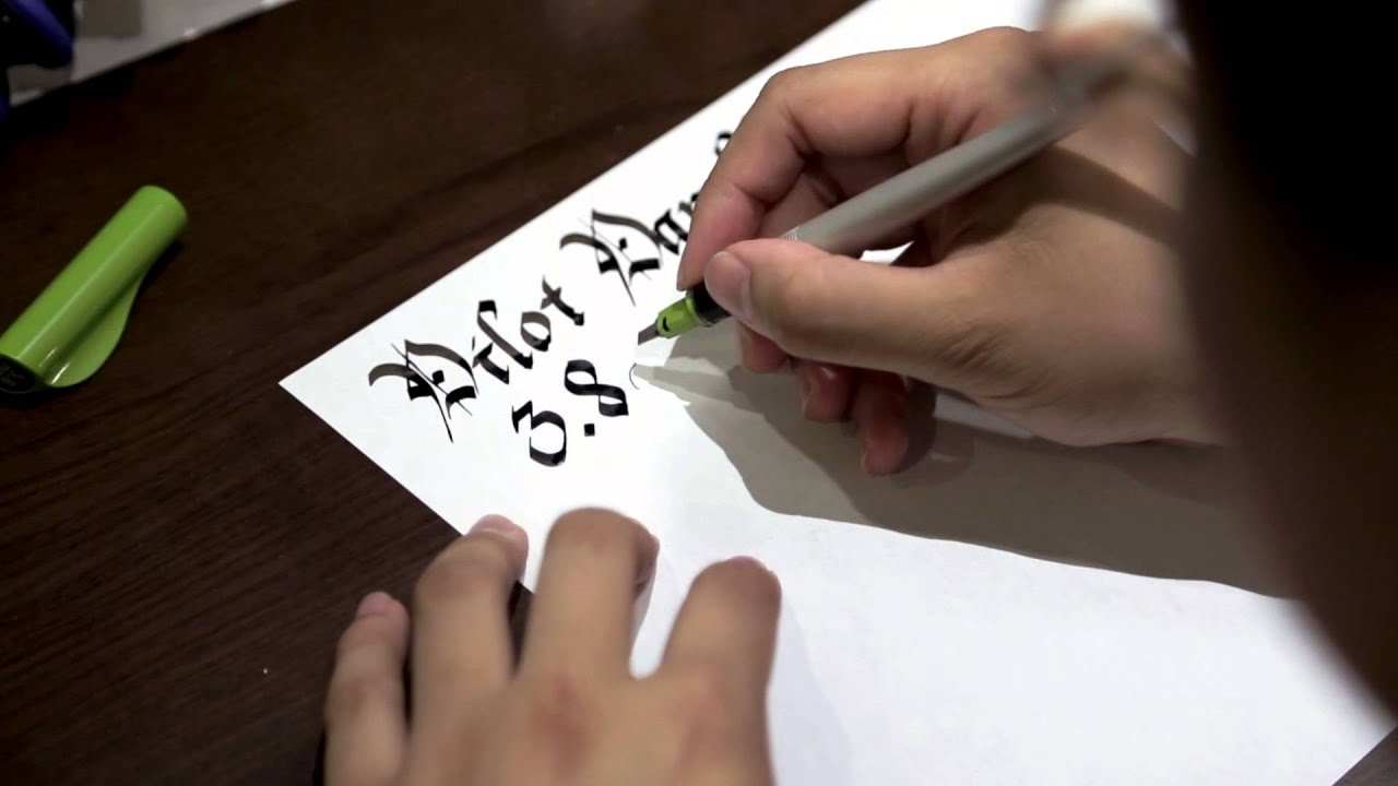 Leo Reviews Pilot Parallel Calligraphy Pens Youtube