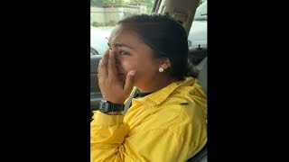 Girl Started Sobbing After An Insect Landed On Her