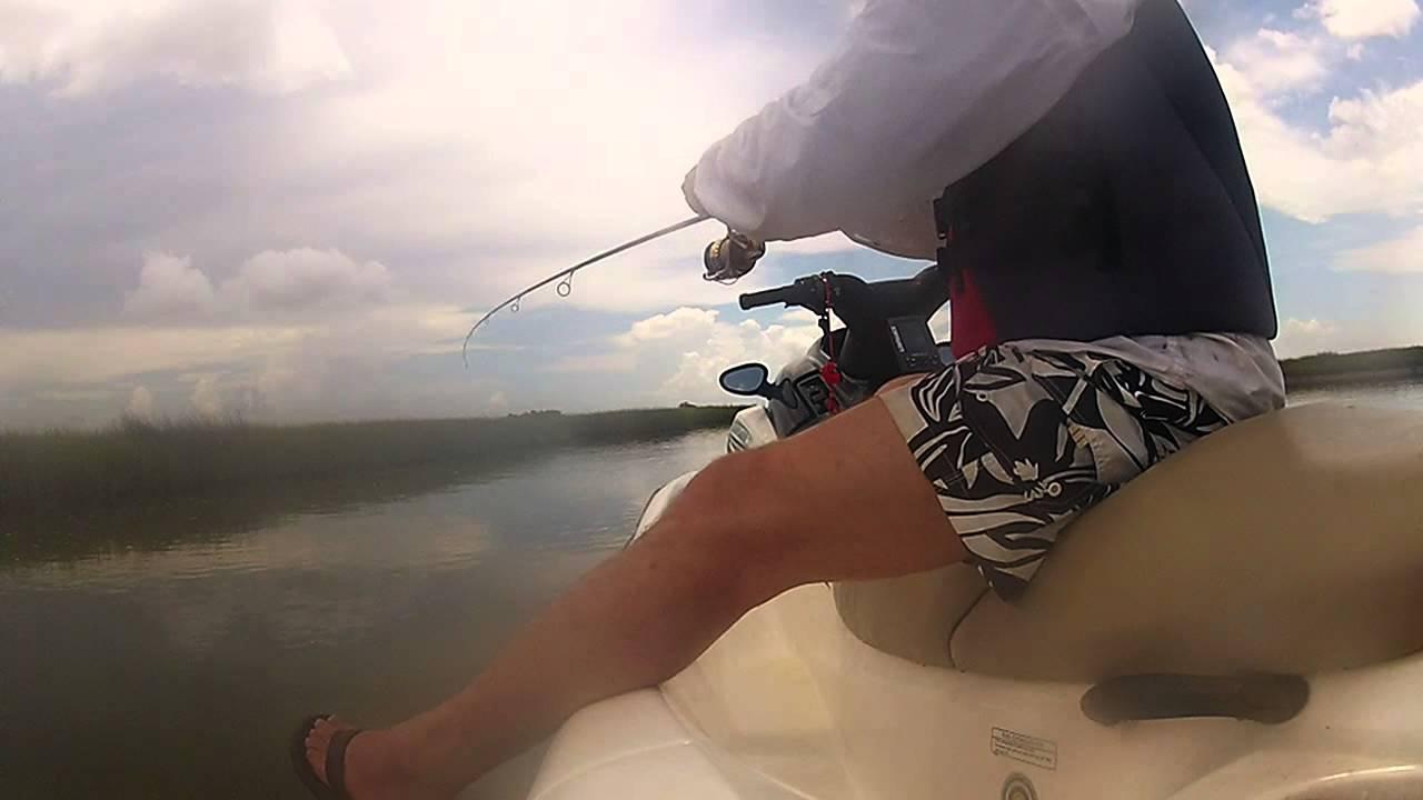 Trinity bay jet ski fishing youtube for Trinity bay fishing report