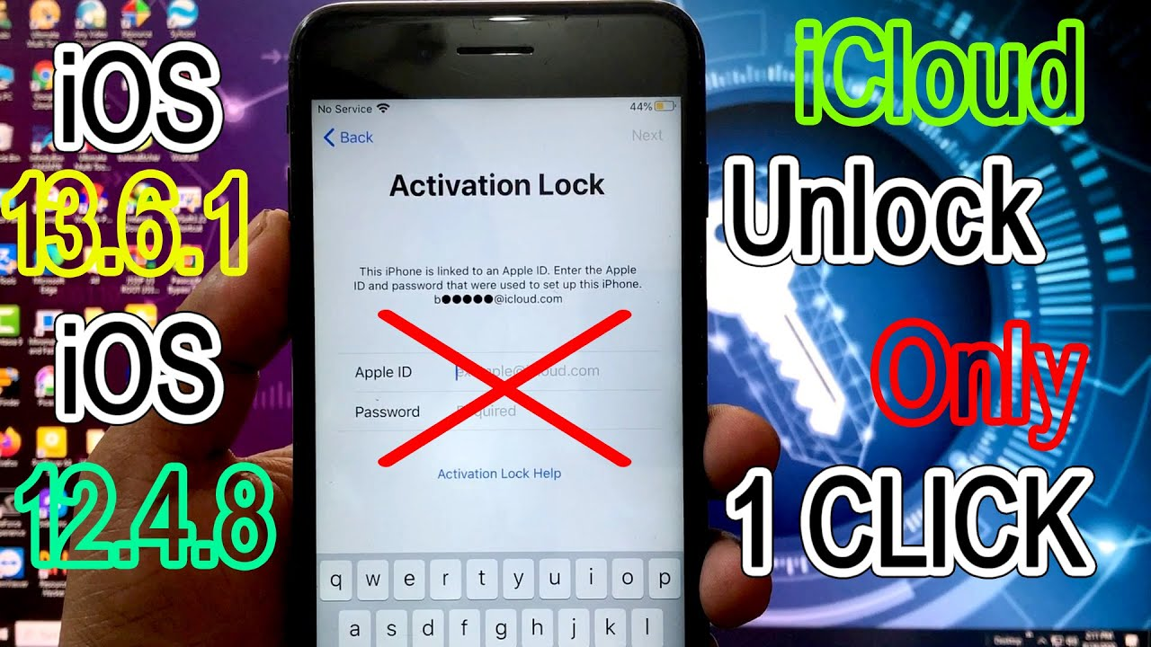 Unthetered New iOS 13.4-13.6 iCloud Full Unlock Only 1 Click | Without Any Apple ID Pass | FIX 1000%