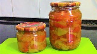 Перцы запеченные в кисло сладком маринаде./Перец на зиму рецепты./Заготовки из перца.