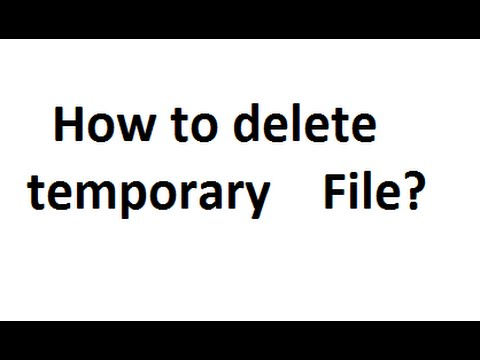 How to delete temperary (TMP) files