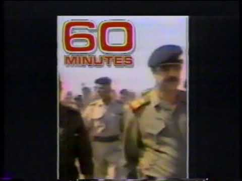 Saddam Hussein  - 60 Mintues  - CBS Commercial  - Persian Gulf War  - Scud Missile (1991)