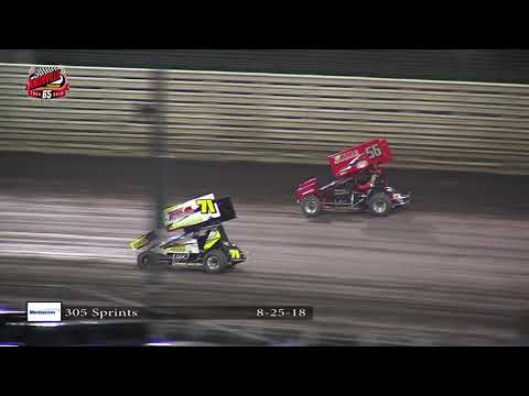 Knoxville Raceway 305 Highlights: August 25, 2018