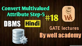 ER model to relational tables | convert Multivalued Attribute | DBMS gate lectures in hindi | #18