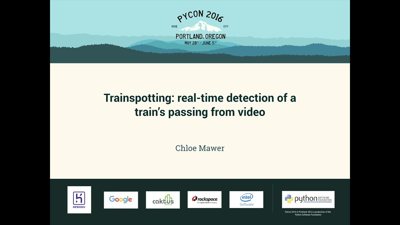 Image from Trainspotting: real-time detection of a train's passing from video