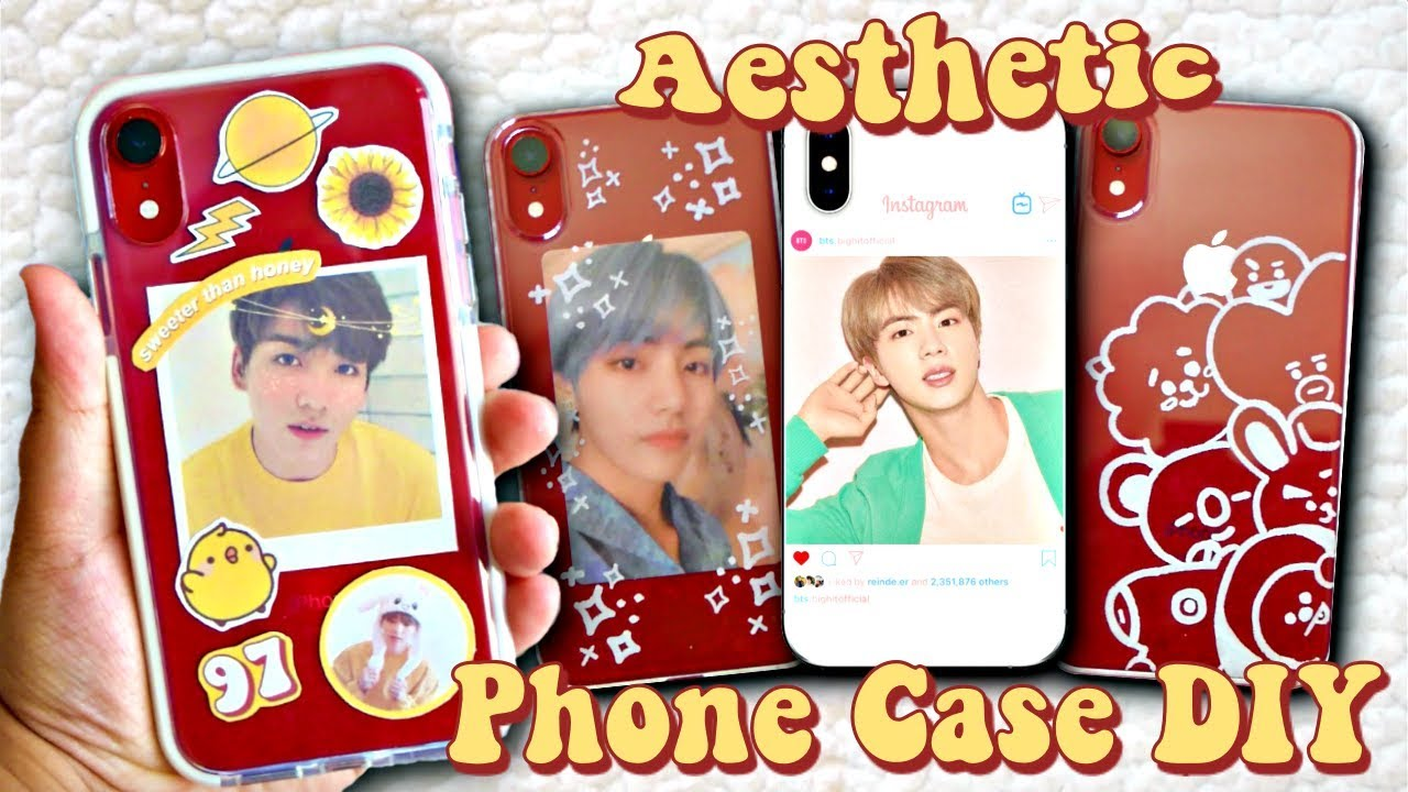 DIY Aesthetic KPOP Phone Cases (BTS EDITION)
