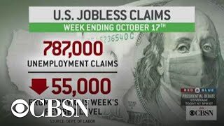 Americans filed 787,000 new jobless claims last week, lowest since pandemic began