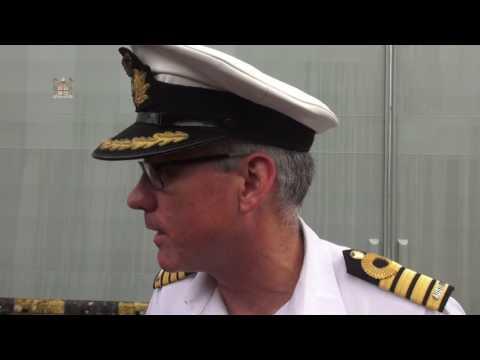 HMS Canberra dock Port visit