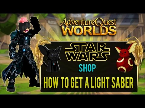Star Wars Shop and How to get a Light Saber in AQW