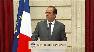 """Hollande: """"Face au terrorisme nos sociétés ne sont pas faibles"""""""