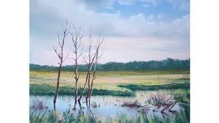"""Видео урок рисования пастелью """"Старые деревья"""" - Александра Головина (ТРЕЙЛЕР)"""