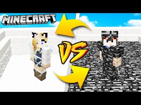 BEDROCK ARMOR VS GLASS ARMOR - MINECRAFT | Vito VS Bella