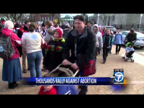Thousands protest abortion in annual March for Life on National Mall