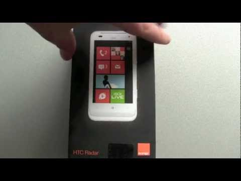 HTC Radar Windows Phone Unboxing