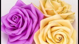 видео мастер класс как сделать цветы из ткани