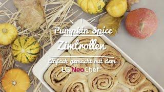 Perfekt für Halloween: Pumpkin Spice-Zimtrollen aus dem LG NeoChef