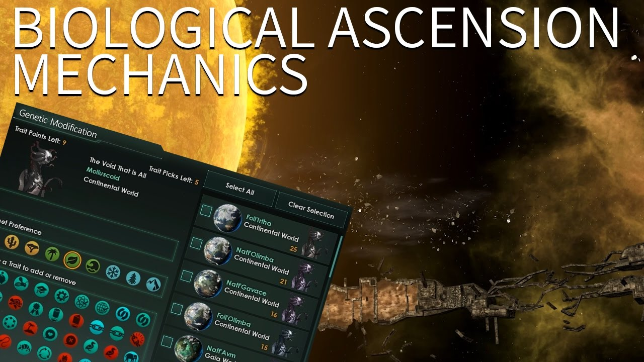 Stellaris - Biological Ascension Mechanics (Turn flesh into clay, mold it  to your will)