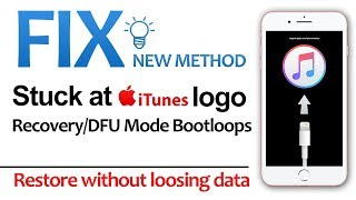 Fix Stuck on iTunes Logo Loop | Restore Without Data Loss