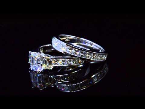 2 86 Ctd Cut Diamond Bridal Set GIA # 22184