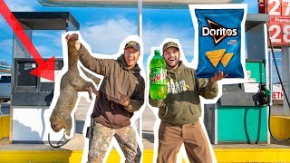 GAS STATION Squirrel Hunting CHALLENGE!! (Catch Clean Cook)