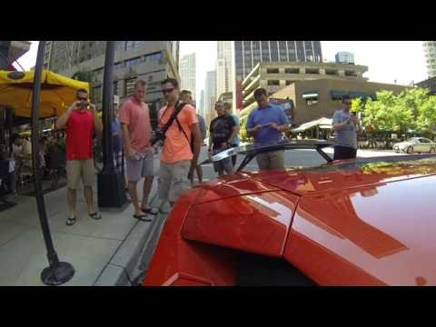 Lamborghini Aventador Loud Exhaust GoPro Peoples reaction in Chicago -2