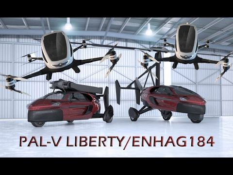 Flying car PAL-V Liberty V/S flying taxi Enhag184 2017
