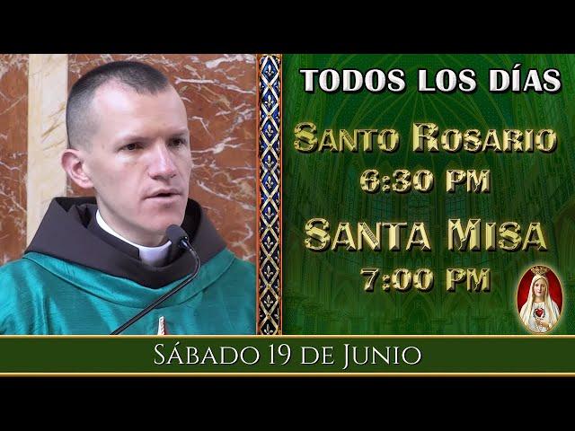 ⛪ Rosario y Santa Misa ⚜️ Sábado 19 de Junio 6:30 PM - POR TUS INTENCIONES | Caballeros de la Virgen