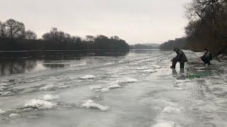 Рыбалка на Оке в Калуге в феврале / обстановка на водоемах