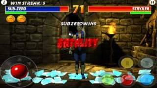 Ultimate Mortal Kombat 3 for iPhone Gameplay