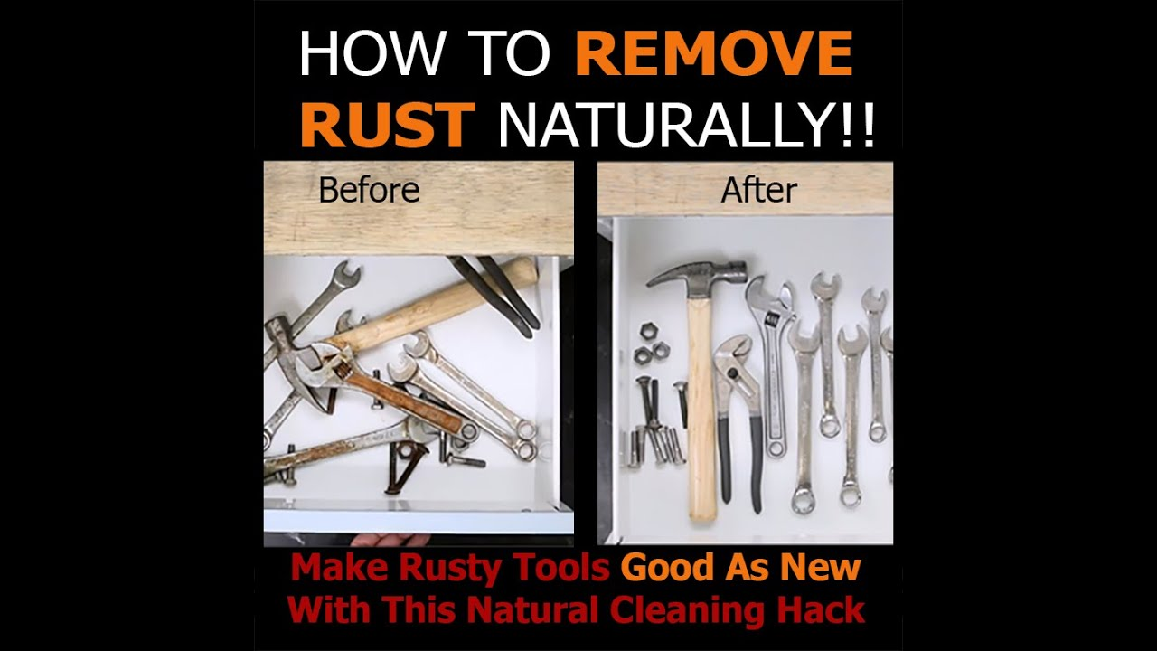 how to remove rust naturally youtube. Black Bedroom Furniture Sets. Home Design Ideas
