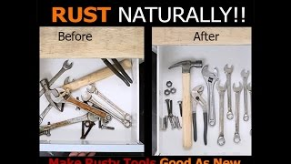 How To Remove Rust Naturally !!!
