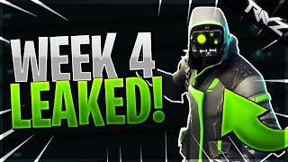 """ALL WEEK 4 CHALLENGES LEAKED! """"SEARCH BETWEEN GAS STATION, STUNT MOUNTAIN & SOCCER PITCH"""" (Fortnite)"""