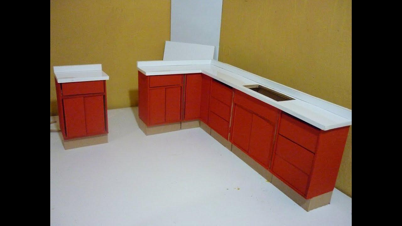 Como hacer una cocina para mu ecas completa cubierta y for Planos para fabricar cocinas integrales