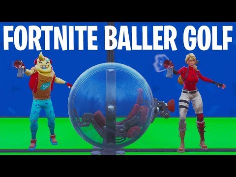 GOLFEN MET DE BALLER! - Fortnite Creative Mini-game (Nederlands)