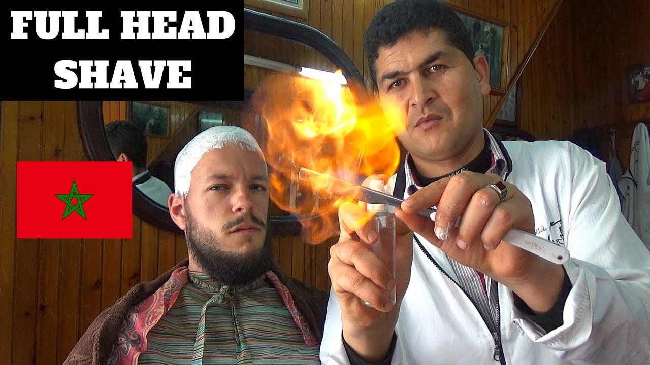 Moroccan barber shop full head shave beard shape up moroccan barber shop full head shave beard shape up with straight edge razor solutioingenieria Images