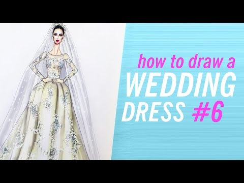 Fine How To Draw A Wedding Dress Picture Collection - Womens Dresses ...