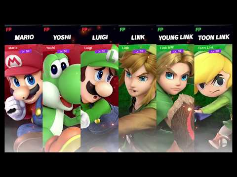 Super Smash Bros Ultimate Amiibo Fights   Request #1328 Team Mario vs Link Team thumbnail