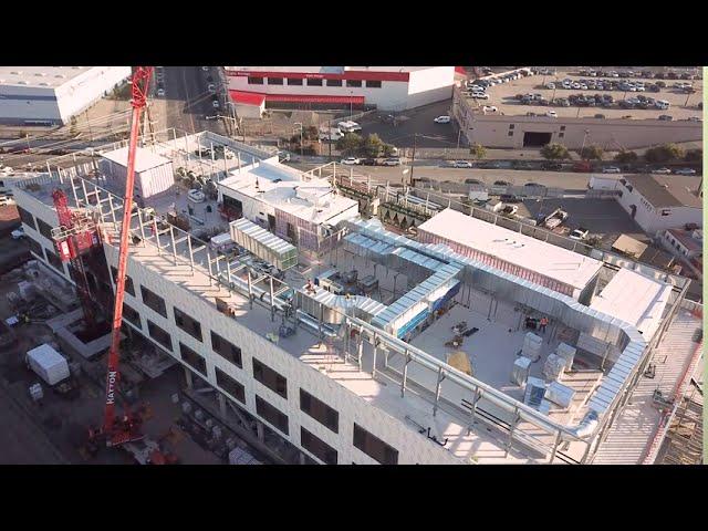 SF Forensics Crane Pick Drone Footage