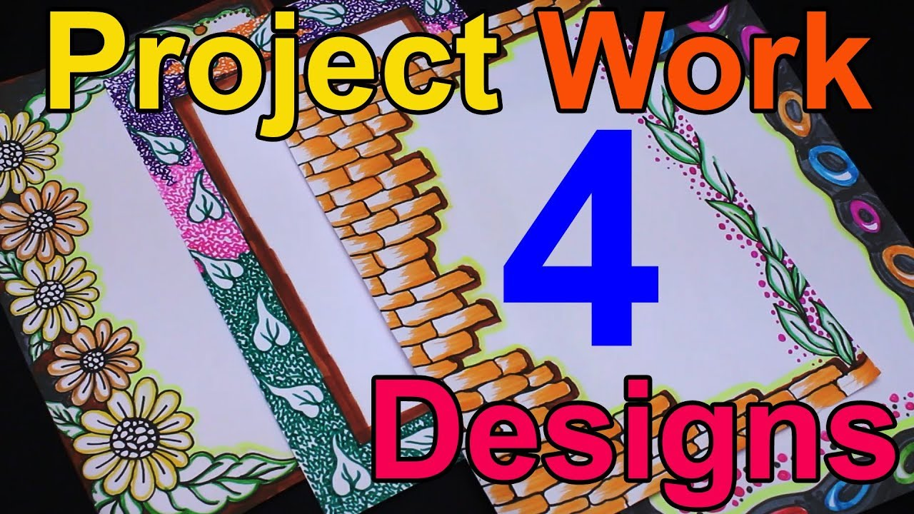 border designs for school project how to decorate project file creative borders my creative hub