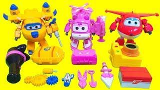 슈퍼윙스 호기 도니 아리 도구세트 변신 장난감 3종 Super wings tool set Transformation Toys
