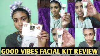 good vibes facial kit review plush demo   new launch sabananasrin