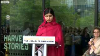 Malala Yousafzai officially opens the new Library of Birmingham