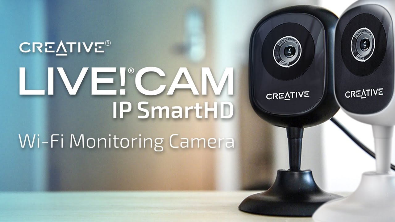 how to set up your creative live cam ip smarthd wi fi monitoring camera youtube. Black Bedroom Furniture Sets. Home Design Ideas