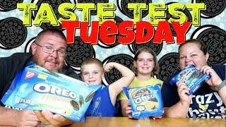 Taste Test Tuesday || Oreos || Rocky Road Trip Chocolate | Peanut Butter Pie | Pistachio Thins